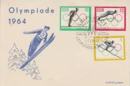 SPORT - OLYMPIA - INNSBRUCK 1964, Sonderkarte DDR - Cartes Postales
