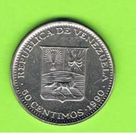 VENEZUELA - 50  Centimos  1990  KM41a - Venezuela
