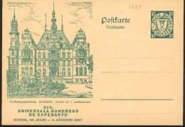 1927 Danzica Danzig Volkstagsgebaude  Postal Stationery Postcarte Esperanto Trés Beau Very Fine - Esperanto