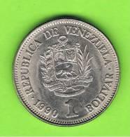 VENEZUELA -  1 Bolivar 1990   KM52 - Venezuela
