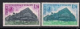 1978 France Frankreich  Conseile De L'Europe Yv. 58-9  Mi. 23-4  **MNH - Idées Européennes