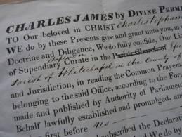 Bishop Of / Evêque De LONDRES (1837) Charles James BLOMFIELD (1786-1857) - AUTOGRAPH. - Autógrafos