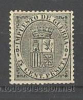 ES141-L2972TESSC. España,Spain,Espagne.ESCU DO DE ESPAÑA..IMPUESTOS DE GUERRA 1º Republica..1874.(Ed 141**) .MAGNIFICO - Escudos De Armas