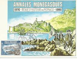 MONACO 1986 - ANNALES MONEGASQUES - MAXIMUM CARD - Non Classés