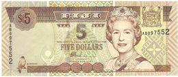FIJI 5 DOLLARS 2002 PICK 105b UNC - Fidji