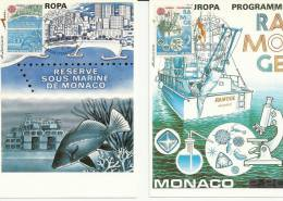 MONACO 1986 - EUROPA, ENVIRONMENT - 2 MAXIMUM CARDS - Monaco