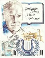 MONACO 1991 - PRINCE PIERRE FOUNDATION -  MAXIMUM CARD - Non Classés