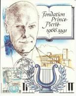 MONACO 1991 - PRINCE PIERRE FOUNDATION -  MAXIMUM CARD - Monaco