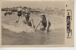 MAR DEL PLATA AÑO 1956   PLAYA SHORE  PERSONAS EN LA PLAYA   NIÑOS MUJERES  HOMBRES  OHL - Andere