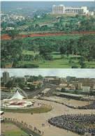 26Mo   Cameroun Yaoundé Lot De 2 Cp Visite Du Pape Et Palais Des Congrés - Cameroon