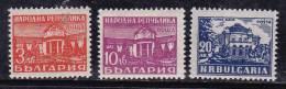 Bulgarie 1948 N°Y.T. :  591,592A Et 593 * - 1945-59 People's Republic