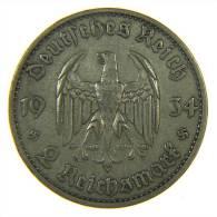 GERMANIA (Germany): 2 Reichsmark 1934 D - [ 2] 1871-1918 : Impero Tedesco
