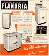FLANDRIA - Wattrelos (Nord) - Machines à Laver - Flandriette-Combinée N°30-Super 28 -Buanderie N°24 Etc ... - Publicités