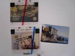 3 TELECARTES MONACO PIERROT 120 U NSB  PALAIS DEZS CONGRES  NSB ET MUSEE OCEAN - Monaco