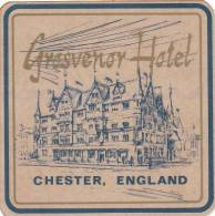 ENGLAND CHESTER GROSVENOR HOTEL VINTAGE LUGGAGE LABEL - Hotel Labels