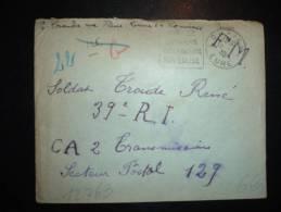 LETTRE EN FM OBL. MEC. DAGUIN 15-1-40 LOUVIERS (27 EURE) + VISITEZ LOUVIERS 100 KM DE PARIS SON EGLISE - Marcophilie (Lettres)