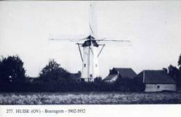HUISE Bij Zingem (O.Vl.) - Molen/moulin - Blauwe Prentkaart Ons Molenheem Van De Stenen Bergmolen Op Hoogboeregem - Zingem