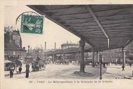 Transports - Métro Métropolitain Aérien - Pont Station La Villette - Structures
