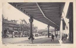 Transports - Métro Métropolitain Aérien - Pont Station La Villette - Ouvrages D'Art