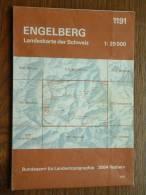 Landeskarte ENGELBERG ( N° 1191 ) Anno 1981 - 1 : 25.000 ( Suisse / Schweiz ) ! - Europa