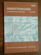 Landeskarte INNERTKIRCHEN ( N° 1210 ) Anno 1986 - 1 : 25.000 ( Suisse / Schweiz ) ! - Europa
