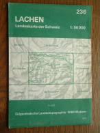 Landeskarte LACHEN ( N° 236 ) Anno 1971 - 1 : 50.000 ( Suisse / Schweiz ) ! - Europe