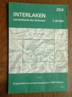 Landeskarte INTERLAKEN ( N° 254 ) Anno 1971 - 1 : 50.000 ( Suisse / Schweiz ) ! - Europa
