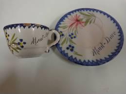 Tasse Et Sous Tasse (faience A Identifier) - Ceramics & Pottery
