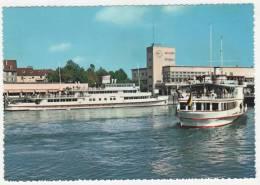 CPSM FRIEDRICHSHAFEN AM BODENSEE, SEEBAHNOF MIT HAFEN, ALLEMAGNE - Friedrichshafen