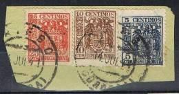 Fragmento PRIEGO (Cordoba) 1941, Sellos Fiscales Usados En Correo - Steuermarken/Dienstpost
