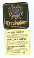 1 S/b Bière Troubadour (recto-verso) - Beer Mats