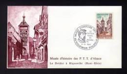 Lettre Avec CàD 68 RIQUEWIHR PHILATELIE Le Facteur Rural En Europe MUSEE D´HISTOIRE DES PTT 04/04/1981 - Réf A928 - Storia Postale