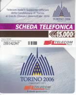 GOLDEN 959  TORINO 2006 OLIMPIADI INVERNALI  15.000  15000 Usata - Public Advertising