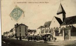 10-SAINTE-SAVINE-L´Hôtel Des Postes,le Marché,l´Eglise     Animée, - Francia