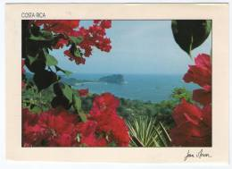 COSTA RICA-PLAYAS DE MANUEL ANTONIO / THEMATIC STAMPS-FLOWERS - Costa Rica