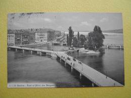 GENEVE. Le Pont Et L´Hôtel Des Bergues. - GE Ginevra