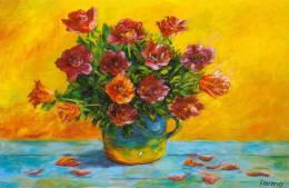 Wenskaart / Carte De Voeux / Greeting Card : GYULA TORMA :  ##Geurig Boeket / Bouquet Parfumé##. - Paintings