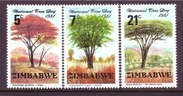 Zimbabwe  442-4  *  FLORA   TREES - Zimbabwe (1980-...)