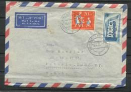 Germany 1957 Cover To USA  CV 11.50 Euro - [7] Federal Republic