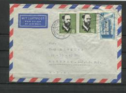 Germany 1957 Cover To USA  Mixed Frankage - [7] Federal Republic