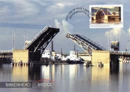 Australia 2004 Landmark Bridges - 50c Birkenhead Bridge Port Adelaide Maxi Postcard - Adelaide