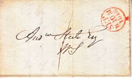 U.S. Stampless Folded Letter  1818 - United States