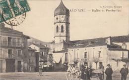 LE MAS- D'AZIL : La Place,au Fond Le Magasin Du Coiffeur,Eglise Et Presbytère,en 1907,tbetat. - Otros Municipios