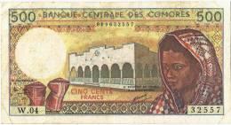 COMOROS 500 FRANCS 1994 F - Comores