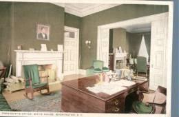 (978) Very Old Postcard - Carte Ancienne - President Office, White House - Washington DC - Washington DC