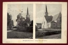Cpa  Du  53  Parigné Deux Vues De L' église      PUO6 - France