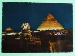 GIZA SPHINX And PYRAMIDS ( Son Et Lumière). - Gizeh