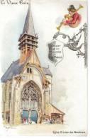 CPA PARIS 3° ARRONDISSEMENT - Le Vieux Paris : Eglise Saint Julien Des Ménétriers D'après ROBIDA, Pub. Le Bon Marché - Paris (03)