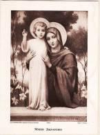 MATER SALVATORIS  E. AZAMBRE Maison BOUASSE LEBEL N°3408 Image Pieuse Religion Sainte Vierge Enfant Jesus - Santini