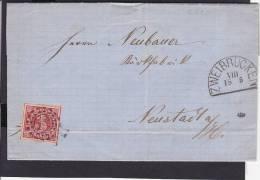 A18  /  Altdeutschland Bayern  Brief /  Zweibrücken - Neustadt 1866 - Cartas